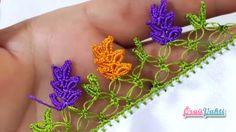 Renkli Yapraklar Tığ Oyası Yapılışı Türkçe Anlatımlı Videolu #elişi #örgü #moda