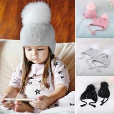 Invierno cálido recién nacido niños sombreros bebé niño niños niñas lindo  de piel de  5195d054564