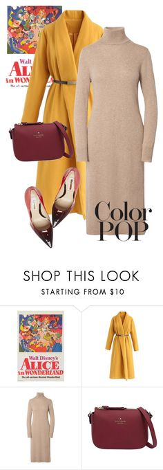 """""""coat"""" by masayuki4499 ❤ liked on Polyvore featuring Chicwish, Kate Spade, Steve Madden and statementcoats"""