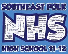 """Thanks for the NHS t-shirts-they look great and thanks for getting them here so quick!!!!""-SE Polk High School National Honor Society"