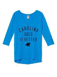 Yeah I do.lol - Carolina Panthers V-neck Tee Carolina Panthers Football, Panther Nation, Football Love, Nfl Shop, V Neck Tee, Style Me, Sportswear, Graphic Sweatshirt, Live