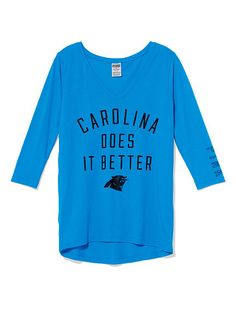 Carolina Panthers V-neck Tee PINK