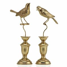 """Sparrow On Stand - Gold 