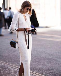 crochelinhasagulhas: Vestido branco em crochê by Hansen & Gretel