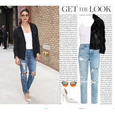 Get the Look: Priyanka Chopra by erickac-263 on Polyvore featuring mode, McQ by Alexander McQueen, GRLFRND, Ray-Ban, Oris, GetTheLook and love