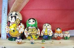 "All Different Family Members Nesting Doll 6"" 10pcs | eBay"