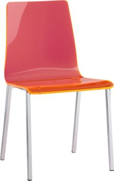 vapor neon chair  | CB2 $179 maybe too wacky...see through pink!