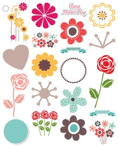 Printable Paper, Flower Prints, Cricut Design, Collages, Paper Crafts, Kids Rugs, Icons, Printables, Scrapbook