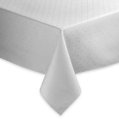 kate spade new york Larabee Dot Tablecloth in Platinum