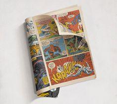 hyperrealistische Gemälde von Comic-Heften