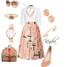 A fashion look from September 2015 featuring Steffen Schraut blouses, Prada pumps and Kartell handbags. Browse and shop related looks.