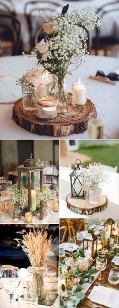 wedding centerpieces for rustic wedding decoration ideas
