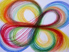 Automatická kresba - arteterapie 4 Acrylic Paintings
