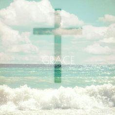 GRACE #wallpaper #cross #grace #background #love #religion #Christian #Christianity #ocean #beach #waves #sand #sea