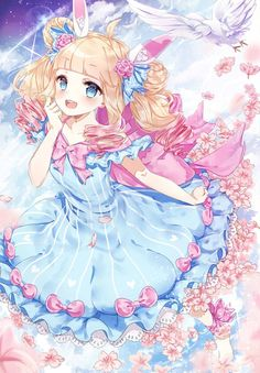 C:Blooms on a Daydream by iluvlollipop22 | Animal Ears Anime | Pinterest |  Valentines, Chibi and Happy