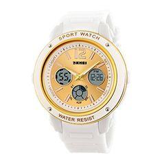Tangda SKMEI Damen Herren Unisex Armbanduhr Elektronische Sport Uhren Wasserdichte Schule Uhr Child Watch Quarzuhr - Weiß - http://uhr.haus/skmei-12/tangda-skmei-damen-herren-unisex-armbanduhr-uhr-5