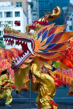 Colorful Dragon by Frozen Canuck, via Flickr  Chinese New Year Parade in Union Square, San Francisco (Feb 11, 2012)