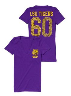 LSU V-neck Tee - Victoria's Secret Pink® - Victoria's Secret