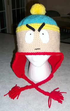 Crochet hat inspired by Cartman (South Park)