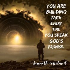 """""""You are building faith every time you speak God's promise"""" (Kenneth Copeland). Prayer Quotes, Spiritual Quotes, Bible Quotes, Godly Relationship, Prayer Warrior, God Loves Me, Jesus Is Lord, Christian Encouragement, Gods Promises"""