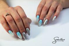 #winternails #SemiLIke #silver #shine #lazuredream