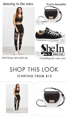 """""""shein contest"""" by misssunrise ❤ liked on Polyvore featuring Joanna Maxham and Converse"""
