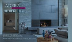 Stone Fireplace Surround, Natural Stone Fireplaces, Open Fireplace, Natural Stones, Interior Decorating, House Design, Landscape, Architecture, Home Decor