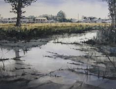Pablo Rubén López Sanz admired watercolorists of the past, such as Turner, Sargent and Boudin. Watercolor Water, Watercolor Drawing, Watercolor Artists, Watercolor Landscape, Artist Painting, Landscape Art, Watercolor Paintings, Watercolors, Wildlife Art