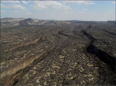 In East Africa, earth's crust is stretching and cracking, in a process called rifting. Here in the Afar region of northern Ethiopia, hundreds of faults and fissures have formed over time.