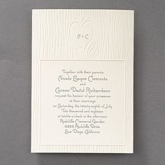 Nature of Love Invitation - Ecru. Available at Persnickety Invitation Studio.