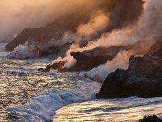 Puu Oo Lava Flow, Hawaii Volcanoes, National Park, Hawaii