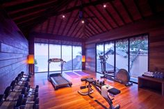 Gym of the Buri Rasa Resort 4* on Thong Nai Pan Noi Beach on the east coast of Koh Phangan, Thailand