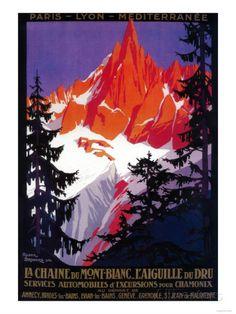 La Chaine De Mont-Blanc Vintage Poster - Europe Láminas en AllPosters.es
