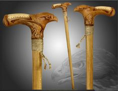 This extremely high-quality walking/hiking/trekking stick or cane is hand-carved from valuable, natural OAK wood.    This is highest skill carved wolf