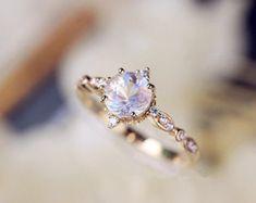 Moonstone Diamond Wedding Band Moonstone Wedding Ring Curved