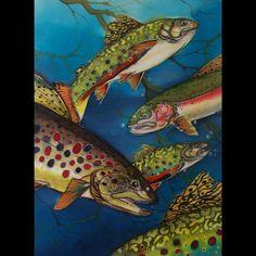 Fish: Elise Wilding. Custom silk painting.