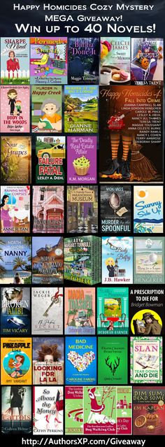 "Win Up To 40 Cozy Mystery Novels! (2) Grand Prize Kindle ""Gift Baskets"" of ALL…"