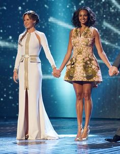 Fabulously Spotted: Amanda Holden In J'Aton Couture & Alesha Dixon In Alexander McQueen - Britain Got Talent - http://www.becauseiamfabulous.com/2013/06/alesha-dixon-wearing-alexander-mcqueen-britain-got-talent/