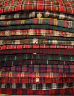 "justbudfox: ""heavytweedjacket: ""Tartan gingham shirts. All Brooks Brothers with a lone Polo mixed in for spice. "" Yes, please. """