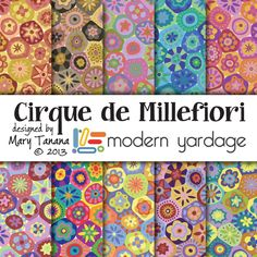 Cirque de Millefiori, a huge fabric collection by Mary Tanana for Modern Yardage, 11 different designs, available in 10 colorways | www.modernyardage.com #design #fabric #quilting #sewing