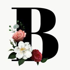 Pin by Benita Kereku on frames in 2019 Alphabet Letters Design, Letter Art, Monogram Letters, Monogram Wallpaper, Alphabet Wallpaper, Flower Backgrounds, Flower Wallpaper, Floral Font, Illustration Blume