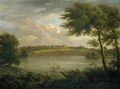 View of Copped Hall in Essex, from across the Lake - George Lambert