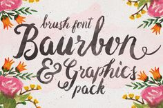 Baurbon and Graphics water color illustration