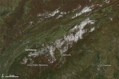 Early snow on the Great Smokies via NASA Earth Observatory.  Read more about this image.