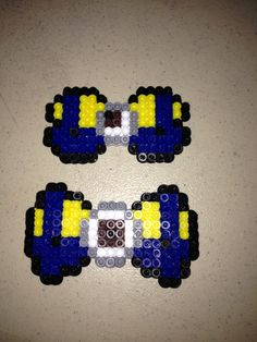 Minion bows  hama perler beads by Christina Islas