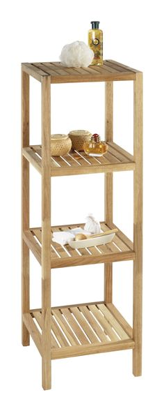 Columna de pie luc a armario auxiliar de madera para for Estanteria bano amazon
