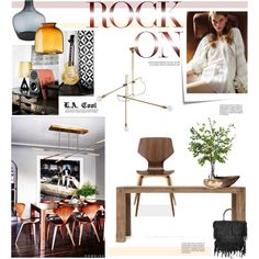 L.A. Cool by barngirl on Polyvore featuring interior, interiors, interior design, home, home decor, interior decorating, Workstead, Diane James, LSA International and Rojo16