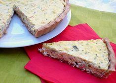 Torta salata con zucchine e salmone con pasta brisée integrale senza burro