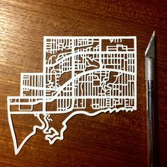 Hand cut paper map of The Beach ward 32 in Toronto ON by CUTdesignsrt Cut Paper, Paper Cutting, Fun Shots, Color Swatches, Toronto, Maps, Custom Design, My Etsy Shop, Sew