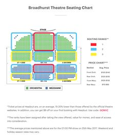 Eugene O'Neill Theatre Broadway Seating Chart Large | Theater ...